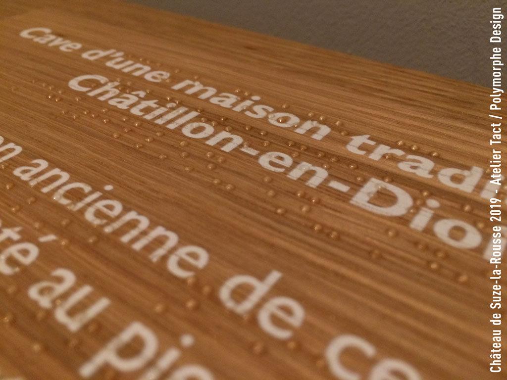 Braille et impression sur bois - Polymorphe Design et Imprimerie Laville