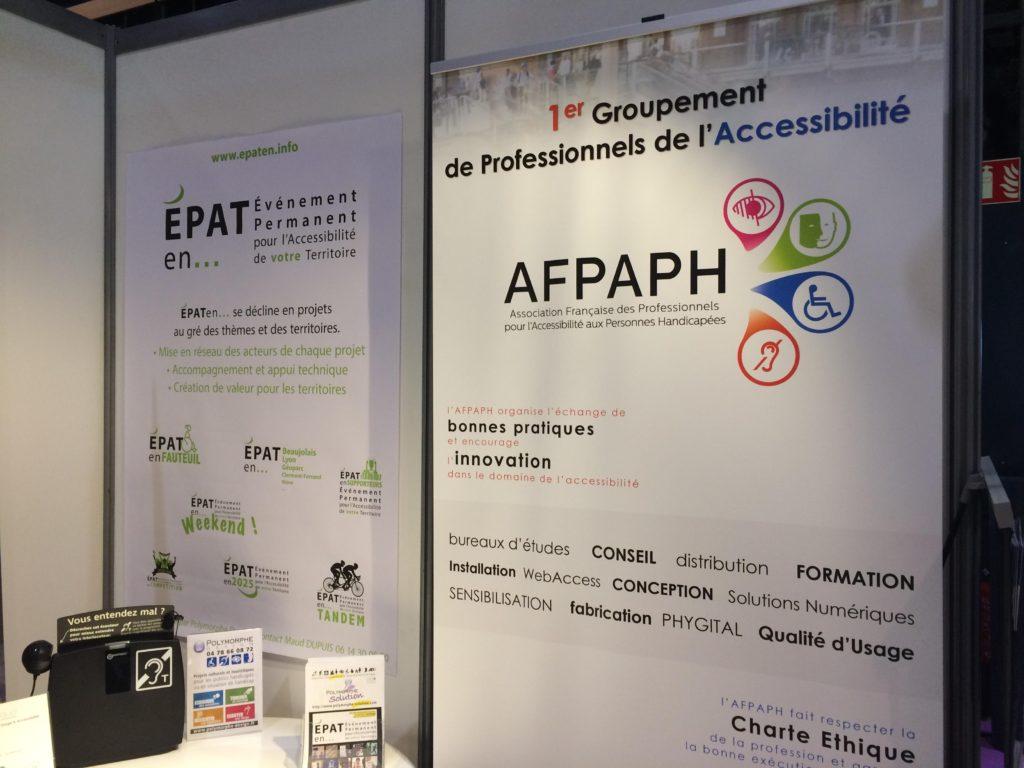 Le stand de l'AFPAPH au salon HANDICA
