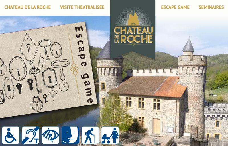 Accessibilité au Château de la Roche